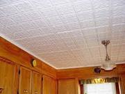 Монтаж потолочных плиток и плинтусов. 700 тг. Кв.м. уголки,  багет